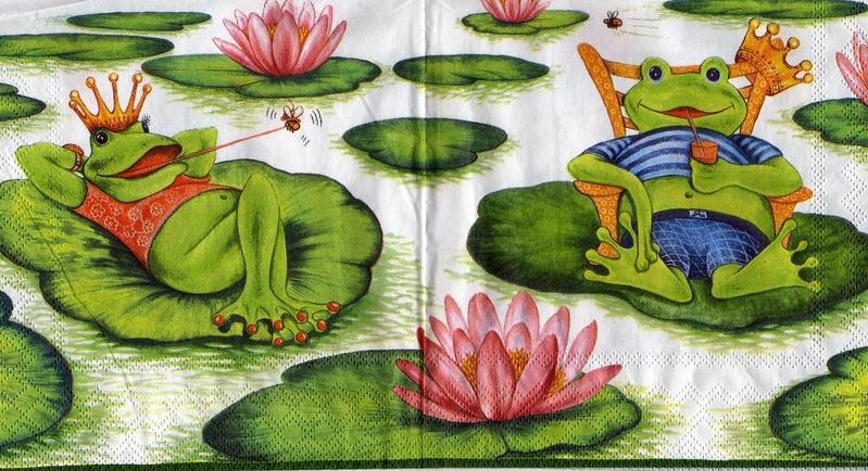 holiday frog frosch sonjas servietten shop. Black Bedroom Furniture Sets. Home Design Ideas