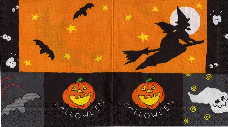 halloween k rbis augen orange schwarz sonjas servietten shop. Black Bedroom Furniture Sets. Home Design Ideas