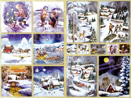 dufex sticker bogen weihnachten winter nostalgie sonjas. Black Bedroom Furniture Sets. Home Design Ideas