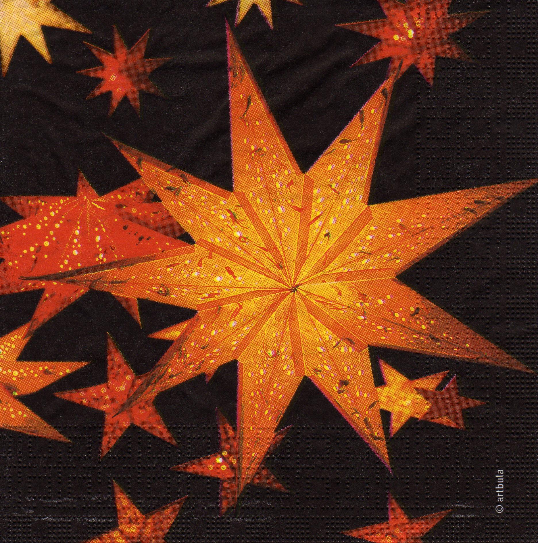 weihnachtsstern starlight black sonjas servietten shop. Black Bedroom Furniture Sets. Home Design Ideas