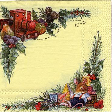 Foxwood weihnachten eisenbahn deko sonjas servietten shop - Deko eisenbahn ...