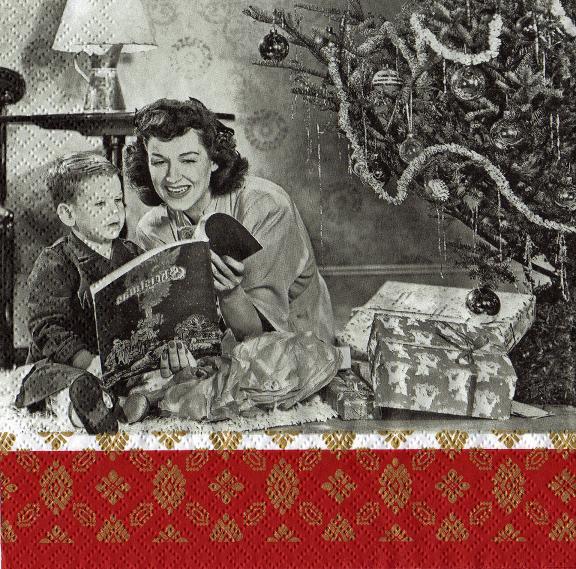 weihnachten zu hause nostalgie sonjas servietten shop. Black Bedroom Furniture Sets. Home Design Ideas