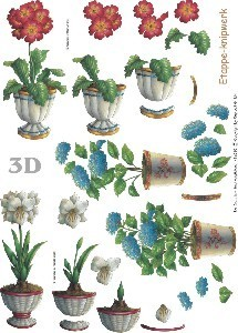 3d bogen schneidebogen hortensie amaryllis im topf 19. Black Bedroom Furniture Sets. Home Design Ideas