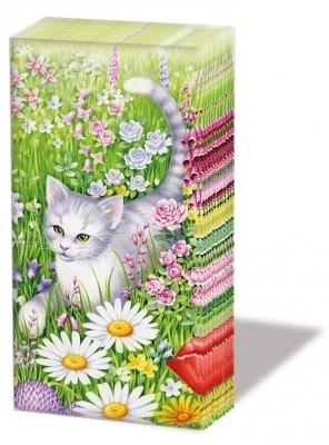 Summer meadow katze pocket tissues sonjas servietten shop for Snowman pocket tissues
